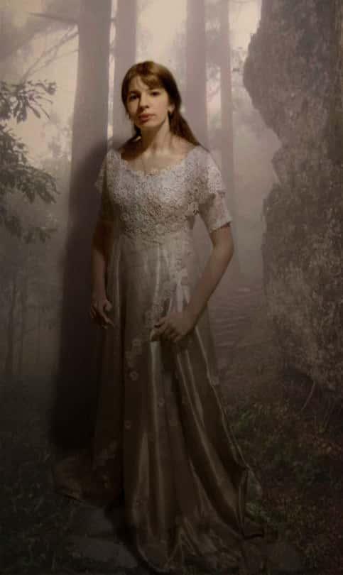 Geisterhafte Selbstdarstellung in einem Märchenwald. Hat nichts mit dem Gedicht zu tun.